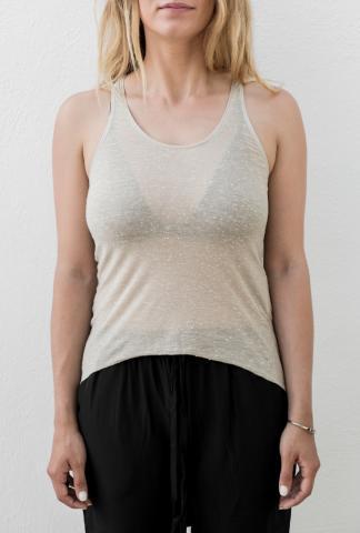 Alessandra Marchi Semi Ribbed Tank Top