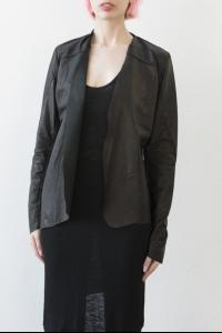 10Sei0otto LEATHER CARDIGAN