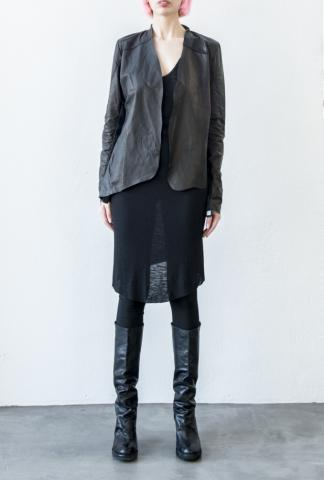 10Sei10otto LEATHER CARDIGAN