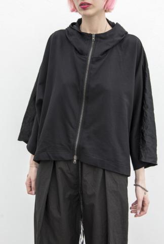 Andrea Ya'aqov hooded poncho