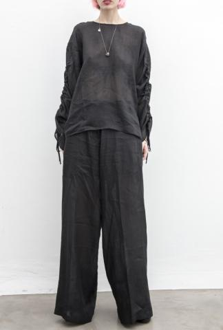 Isabel Benenato Ramie Wide Leg Trousers