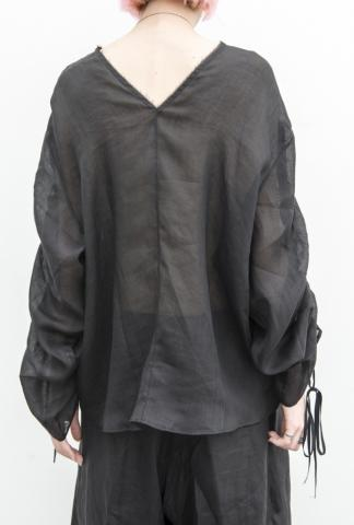 Isabel Benenato RamiA Draped Sleeves Shirt  from C