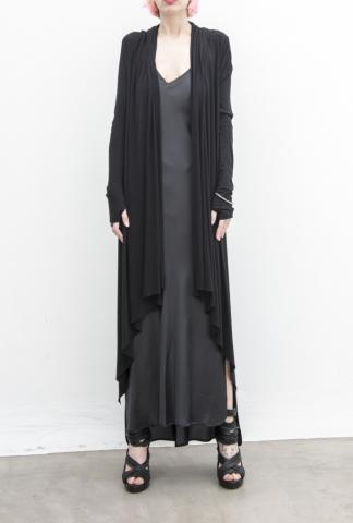 MASNADA long hooded cardigan