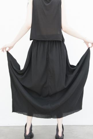 UN-NAMABLE Black Muslin Skirt