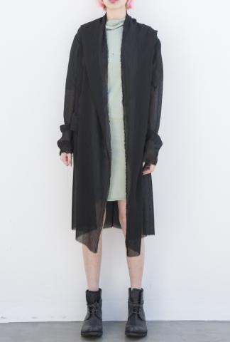 M.A+ CW327L Textured Hooded Cardigan