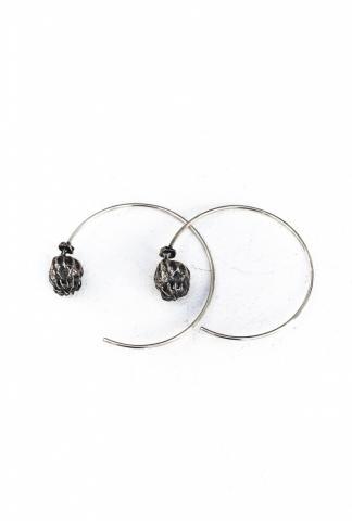 Amy Glenn POPPY HOOPS small silver
