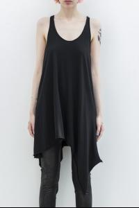 L.G.B. Draped Asymmetric Tank Top