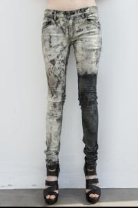 L.G.B. Asymmetric Acid Treated Skinny Jeans