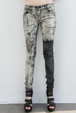 L.G.B. Asymmetric Acid Treated Skinny Jeans