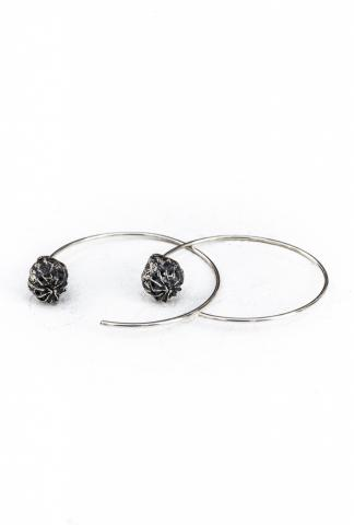 AMY GLENN POPPY HOOPS small silver
