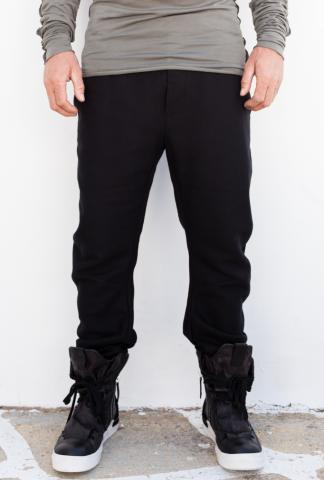 ROOMS by Lost&Found RMS 14.291.675R CURVED LEG PANT BLACK