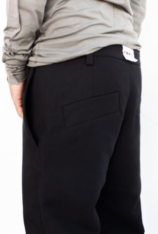 LOST & FOUND RMS 14.291.675R CURVED LEG PANT BLACK