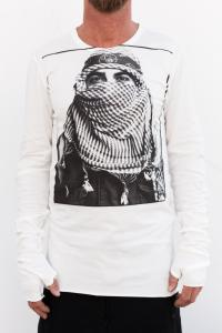 ROOMS by Lost&Found Printed Elongated Long Sleeve T-shirt