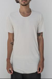 Lost&Found Panelled Curved Hem T-shirt