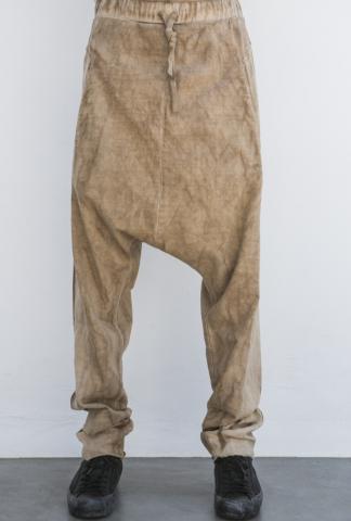 Andrea Ya'aqov Washed Baggy Low-crotch Joggers