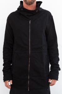 Lost&Found Hooded Jacket With Top Button Closure