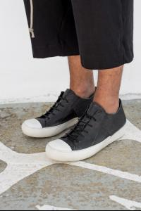Lost&Found Leather and Linen Low-top Sneakers
