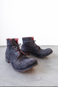 A1923 mod.06 Ankle boots model in Nero-Rosso