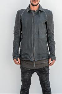 Boris Bidjan Saberi J2 Removable Zipped Collar Horse Leather Jacket