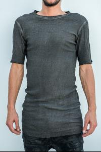 Boris Bidjan Saberi s/s tee with a back seam, resi