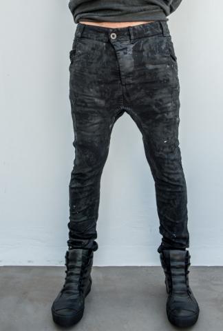 Boris Bidjan Saberi curved leg jeans, hand-stitche