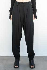 Isabel Benenato Stretch Vicose Wool Baggy Pant