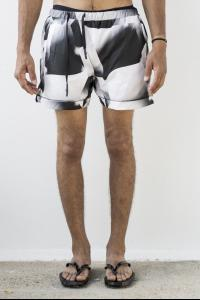 11 By BBS Chrome effect print swimshorts