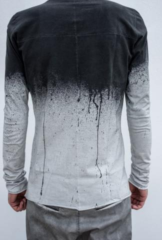10Sei0otto round-neck sprayed painted t-shirt