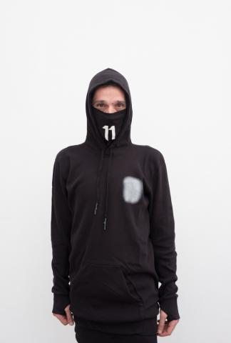11 By BBS L/s hoodie w/mask and glow fcks on back