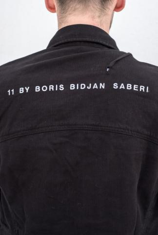 11 By BBS jeans jacket w/logo words on back