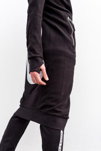 11 By BBS Elongated hoodie with fist on back