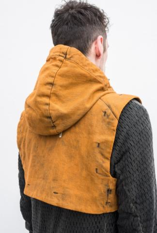 Boris Bidjan Saberi canvas short vest-bag