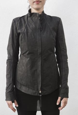 Boris Bidjan Saberi WJ1 Chain Stitch Leather Jacket