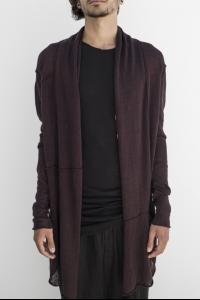 Isabel Benenato Knit cardigan black cherry