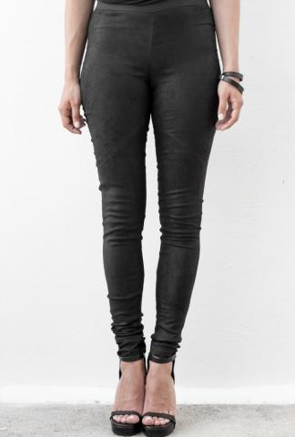 Isabel Benenato Leather legging black