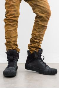 Boris Bidjan Saberi BAMBA3 Horse Leather High-top Sneakers