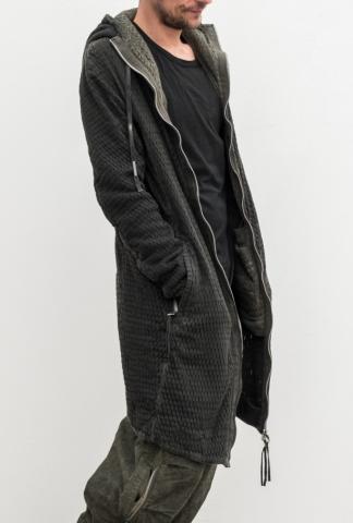Boris Bidjan Saberi mashed long hoodie