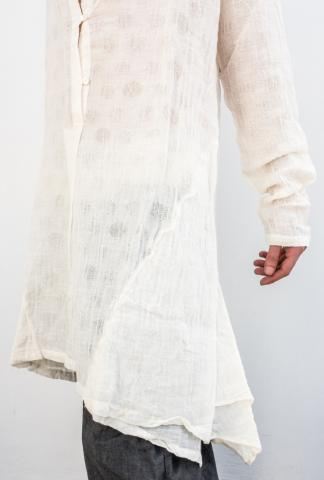UN-NAMABLE Deep V-neck Linen Shirt