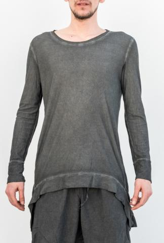 Un-Namable Cold Dyed Curved Hem Long Sleeve T-shirt