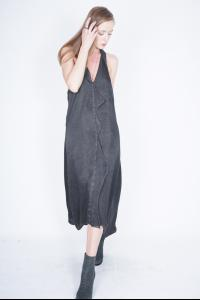 10Sei10otto Long V-neck dress