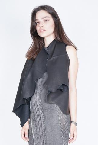 10Sei0otto Reversible Leather Cape