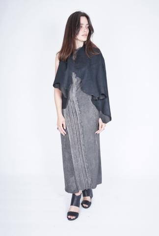 10Sei10otto Reversible Leather Cape