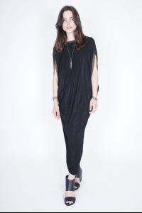 Alexandra Marchi reversible long dress w/chains