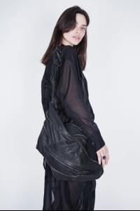 Alessandra Marchi Multi-zipper Leather Shoulder Bag
