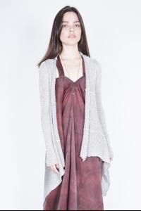 MASNADA silver painted cardigan