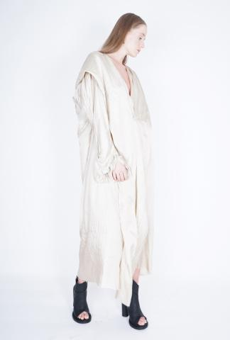 PHAEDO Hooded oversized silk dress
