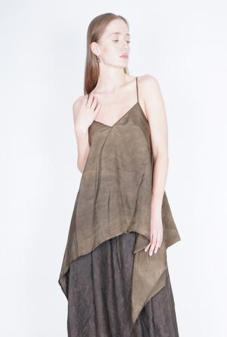 UMA WANG Tova top open back triangle top with shou