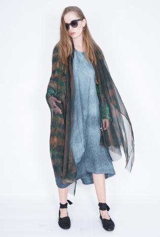 Uma Wang Sheer Silk Scarf