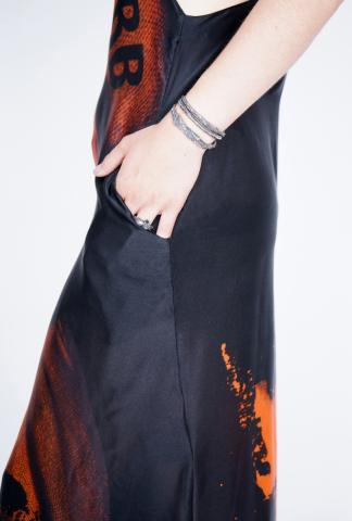 AREA Barbara Bologna panels dress