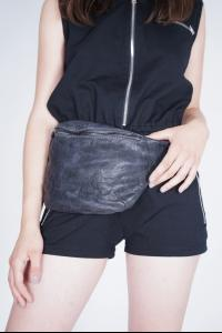 Barbara Bologna Elasticated Strap Leather Belt Bag